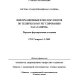 СТО Газпром 1.3–2009